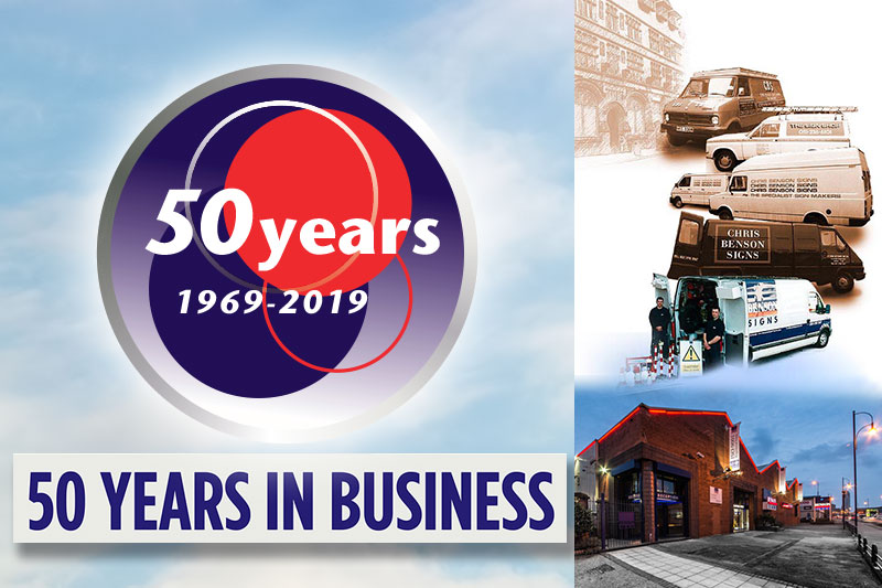 50 Years In Business At Benson Signs Liverpool
