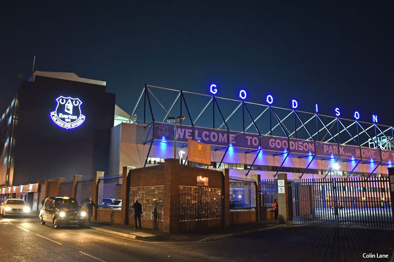 Goodison illuminated letters manufactured at benson signs