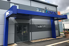 Benson signs supply freestanding canopy sign to ipsen