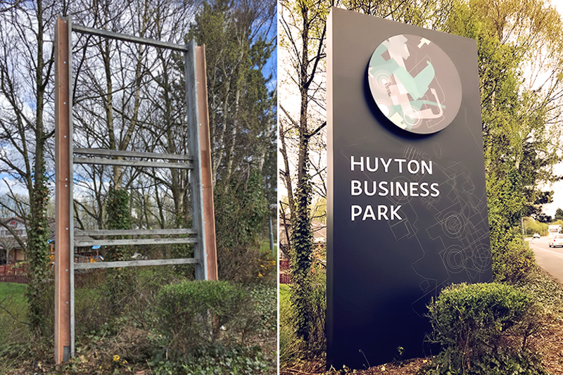 Huyton business park before and after photo