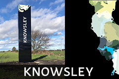 Knowsley freestanding totem signs