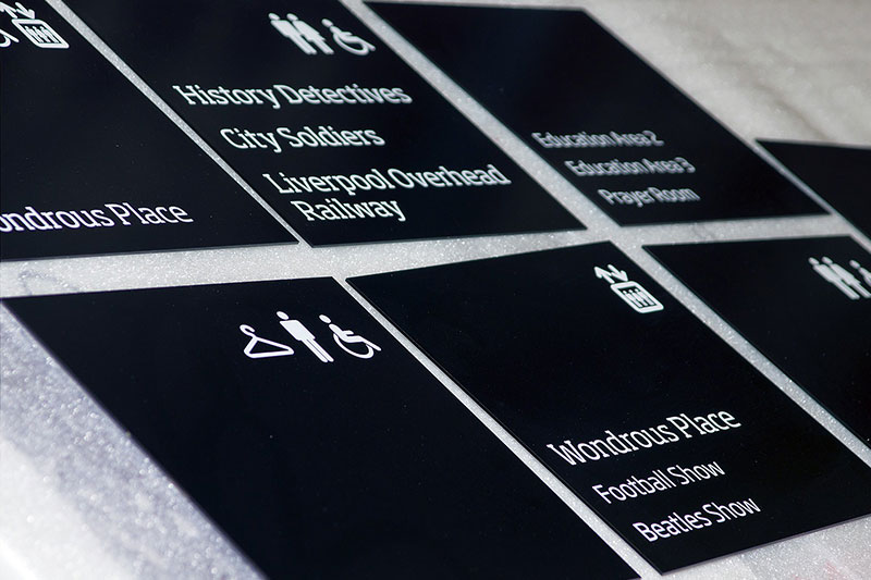 Manufacturing wayfinding signage for museum of liverpool