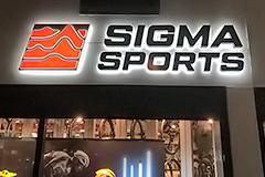 New signage for sigma sports