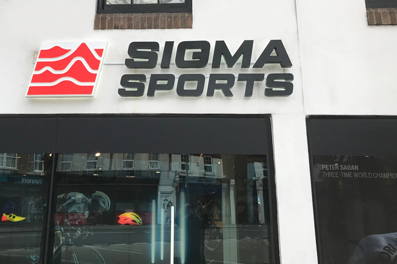 Sigma sports new external signage