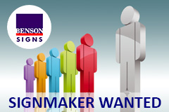 Jobs at Benson Signs