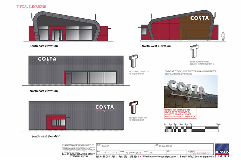 Costa Coffee First Drive Thru Benson Signs Case Study