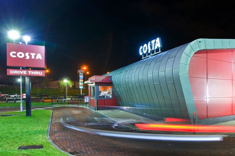 Costa Coffee Drive Thru Signage