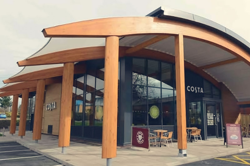 Costa environmentally friendly the first 'zero energy' coffee shop building in the UK