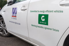 Signage Supplier Receive Carbon Champion Award 2016