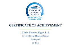Benson signs fourth Carbon Trust award